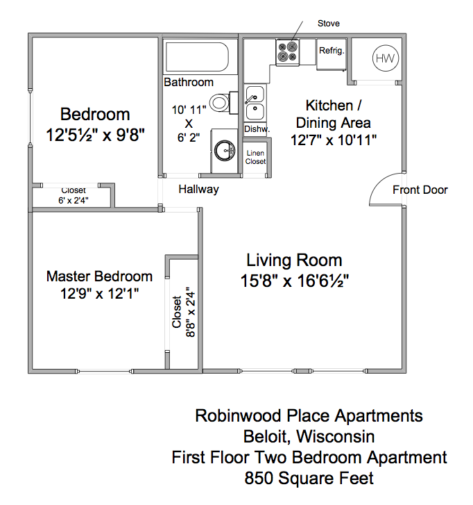 Robinwood Place 1st Floor 2BR Apartment