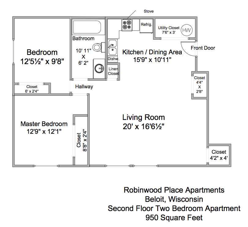 Robinwood Place 2nd Floor 2BR Apartment