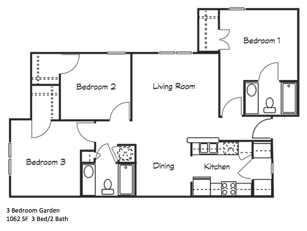 Three Bedroom Garden
