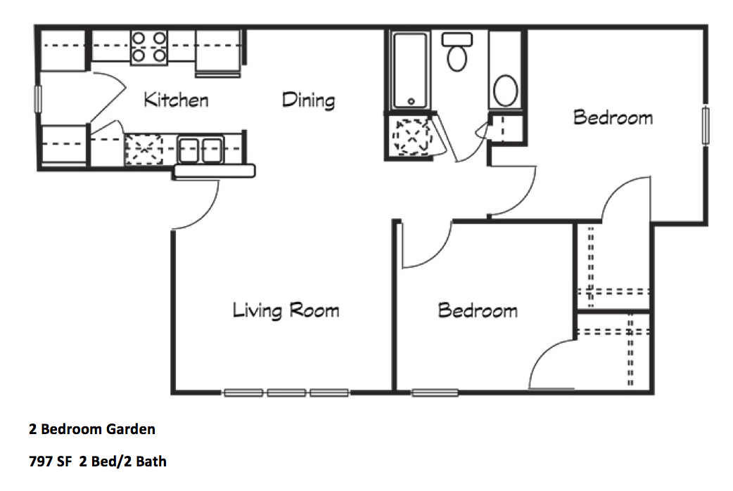 Two Bedroom Garden
